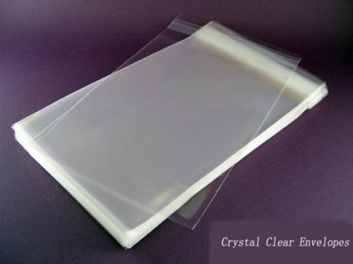 100 Clear Resealable Plastic Cello Envelopes Bags 6 X 9 Ebay