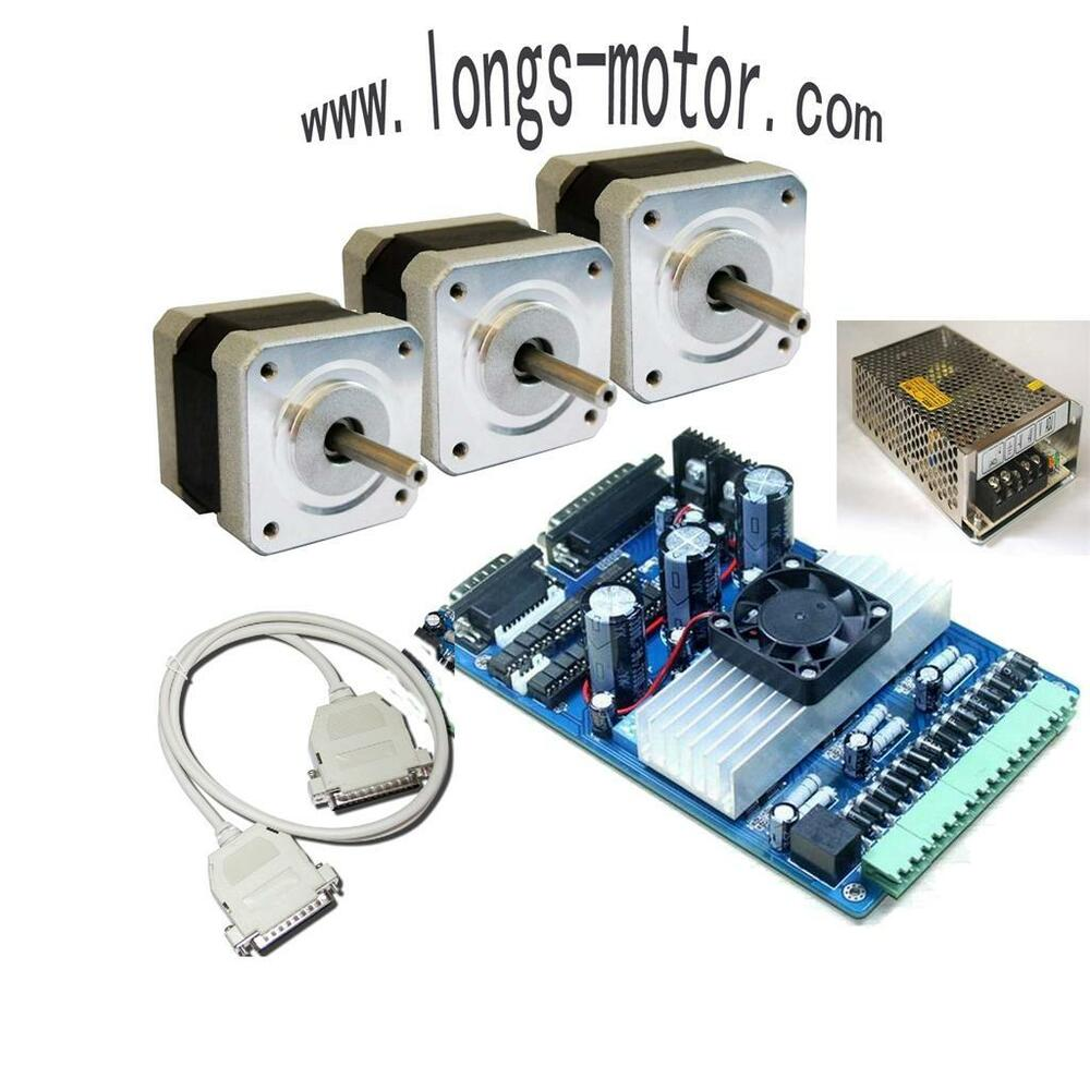 3axis nema 17 stepper motor 75 oz in driver cnc kit router for Cnc stepper motor controller