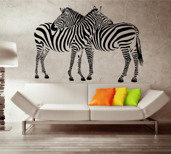 Wall Sticker Zebra Wall Decal Wall Quote Sticker Wall Art