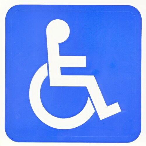 Disabled Toilet Safety Sign 240x340mm | OfficeMax NZ |Disable Sign