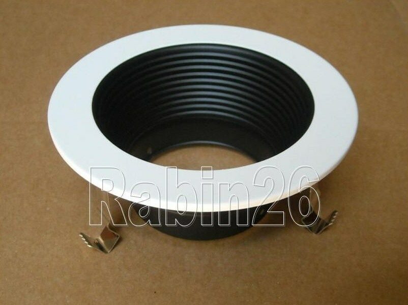4 Quot Inch Recessed Can Ceiling Light Step Trim Baffle 120v
