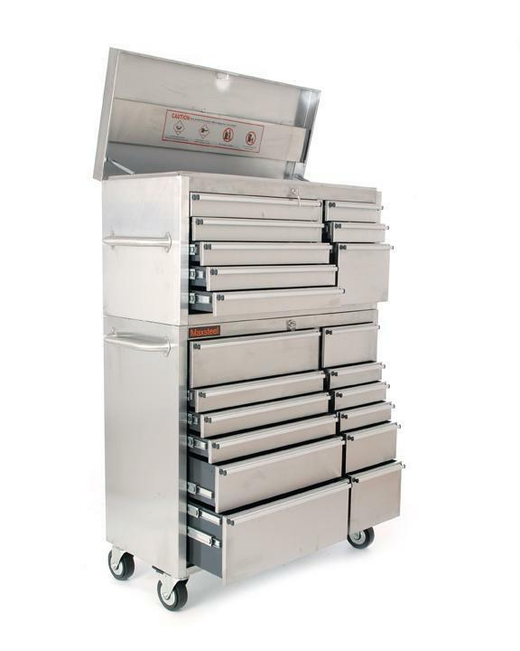 41 stainless steel tool box chest roll cab large storage brand new ebay. Black Bedroom Furniture Sets. Home Design Ideas