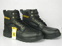 MENS CATERPILLAR LACE UP BLACK ANKLE BOOT 'P713887' SIZE 10