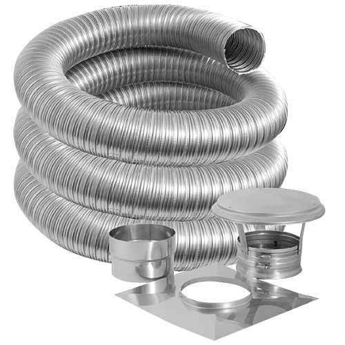 6 Quot X 25 Simpson Duravent Stainless Chimney Liner Kit Ebay