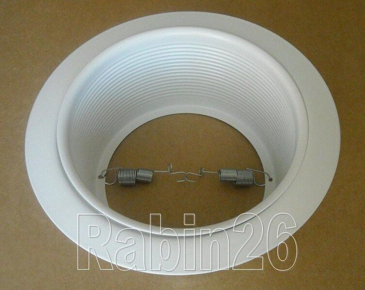 Recessed Lighting Thick Ceiling : Quot inch ceiling recessed can light step trim baffle par