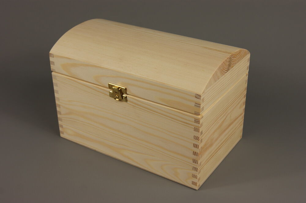 Treasure Chest Wedding Gift Card Box : LARGE TREASURE CHEST PLAIN WOODEN BOX 25 15 17 CM WEDDING CARDS ...