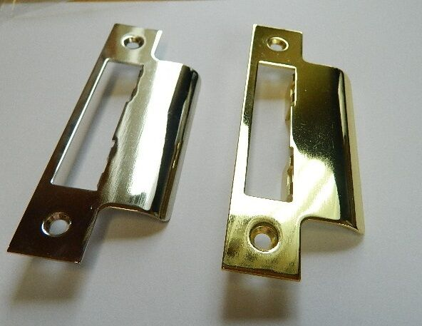 1 x strike plate long brass or nickel plated use with. Black Bedroom Furniture Sets. Home Design Ideas