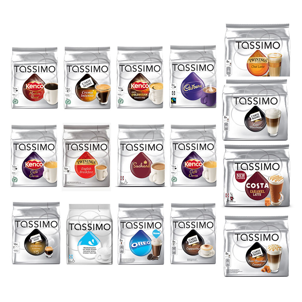 tassimo home use t discs pods capsule cadbury oreo twinings coffee ebay. Black Bedroom Furniture Sets. Home Design Ideas