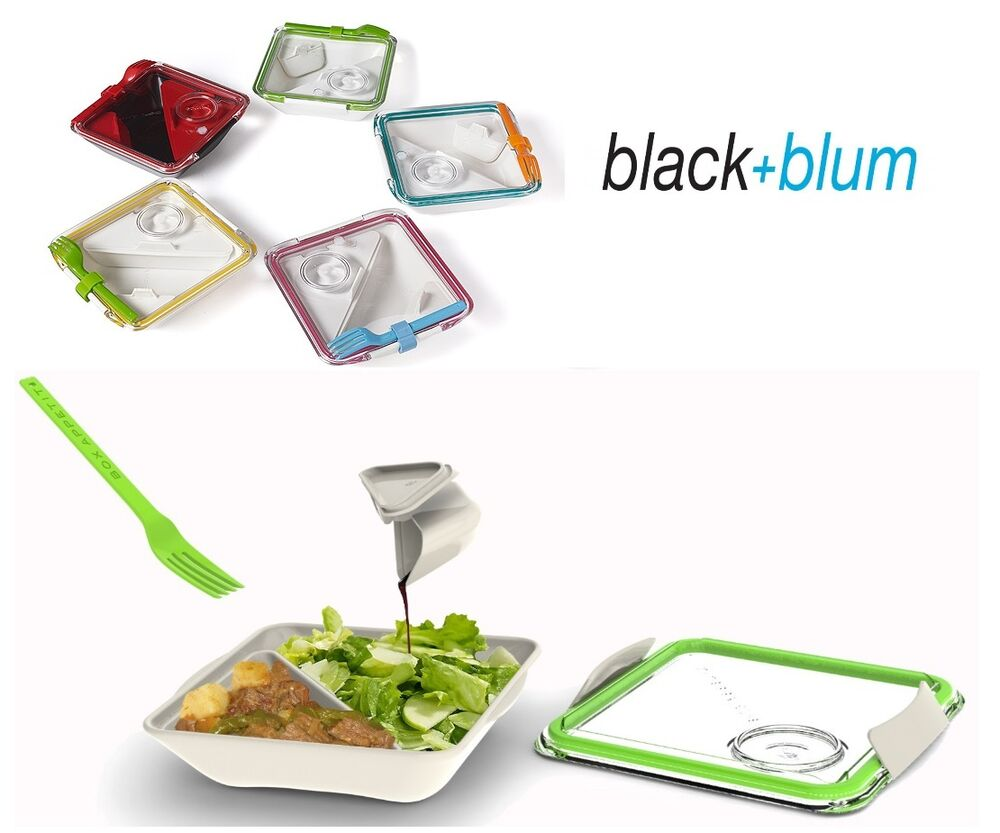 black blum box appetit lunch box lime red blue all colours ebay. Black Bedroom Furniture Sets. Home Design Ideas