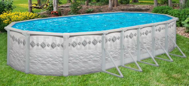 16x26x52 Oval Above Ground Swimming Pool Kit Similar In Size To 15x30 Ebay