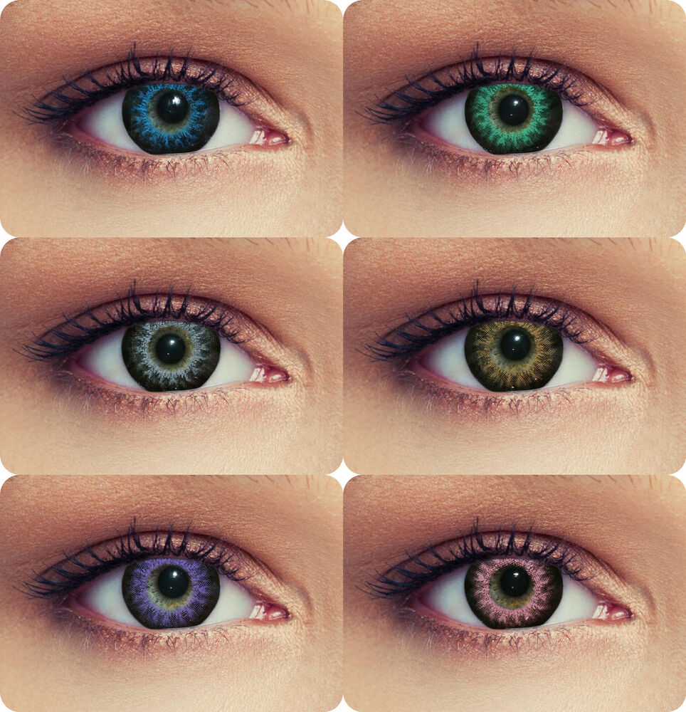 farbige kontaktlinsen 3 monatslinsen contact lenses design high intensive ebay. Black Bedroom Furniture Sets. Home Design Ideas