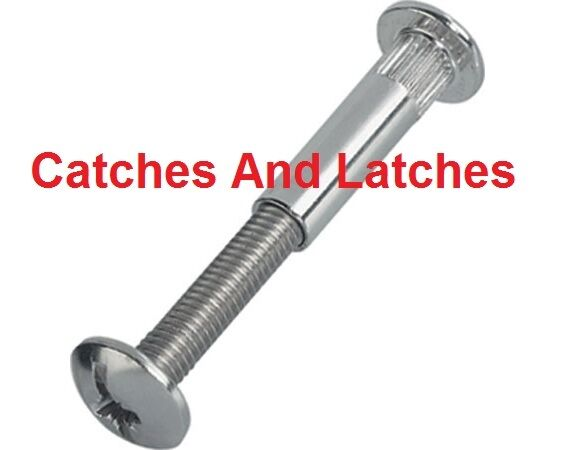 M6 CONNECTING BOLTS SCREWS KITCHEN CABINETS PACKS NICKEL ...