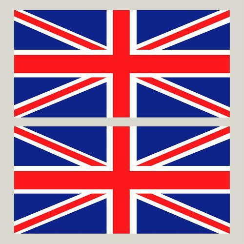 2 union jack england flag decals gb stickers 4 x 2 ebay for Ohrensessel union jack