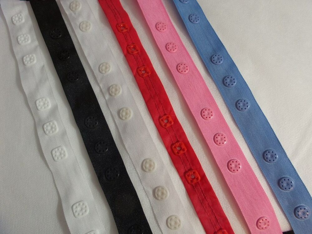 White pink blue snap tape buttons baby lingerie sewing ebay