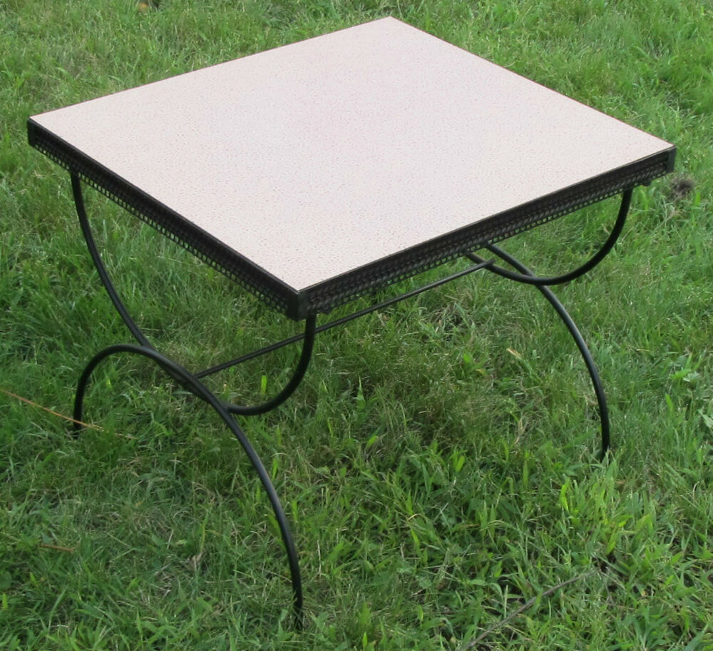 fab 50 39 s retro vintage pink formica coffee end table ebay. Black Bedroom Furniture Sets. Home Design Ideas