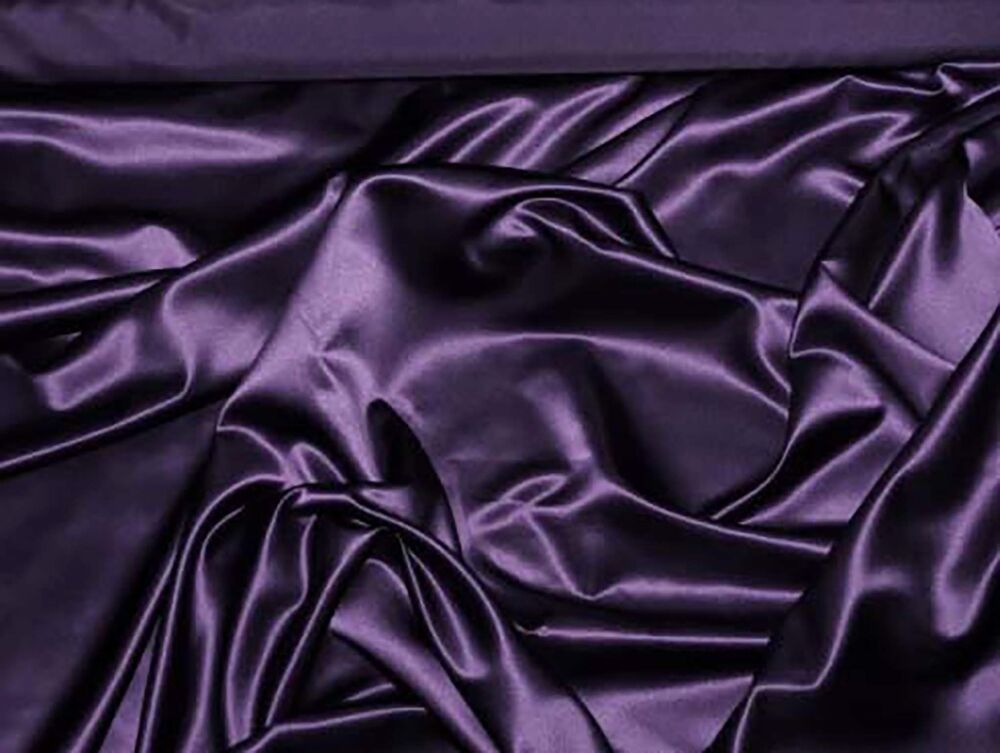 Duchess satin fabric plum purple 58 bty wedding formal for Satin fabric