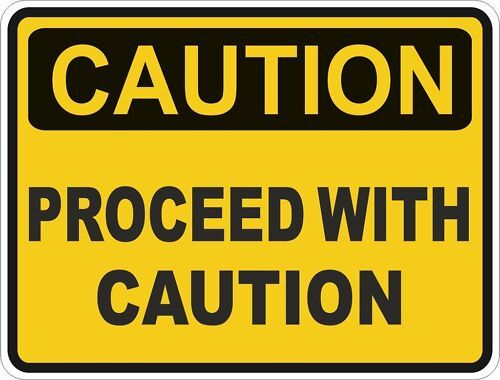 1x Caution Proceed With Caution Warning Funny Sticker Ebay
