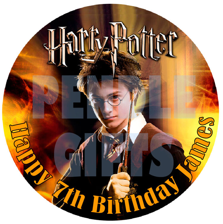 """Harry Potter Edible Icing Cake Topper 7.5"""" x 1 