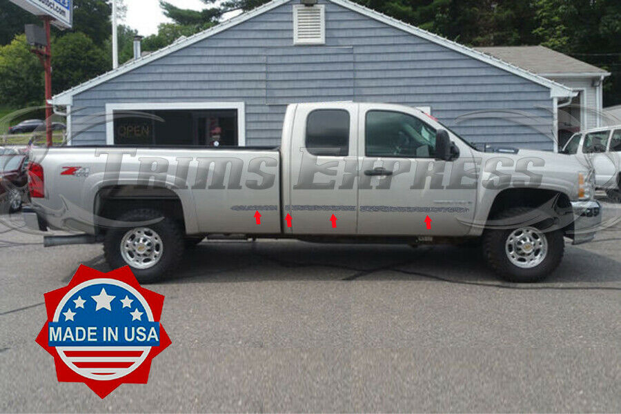 07 13 Chevy Silverado Extended Cab Long Bedchrome Flat