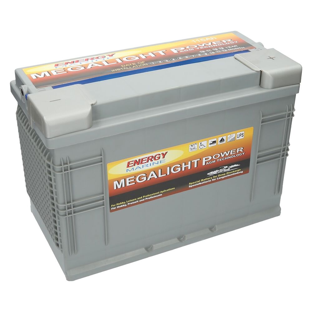 agm premium batterie megalight 12v 115ah ebay. Black Bedroom Furniture Sets. Home Design Ideas