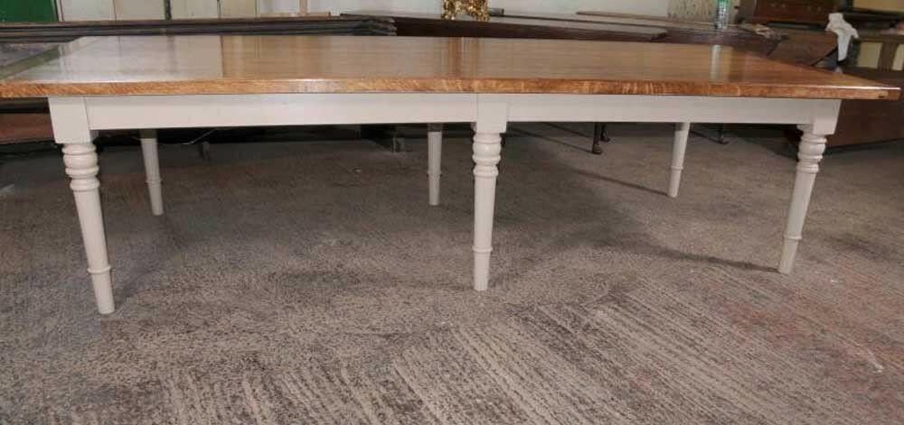 10 ft Oak Refectory Table Painted Base Dining eBay : s l1000 from www.ebay.com size 1000 x 471 jpeg 57kB