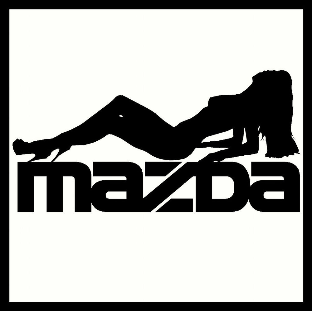 Details about 2 x mazda vinyl car stickers decals sexy funny custom emblemgraphicbody panel