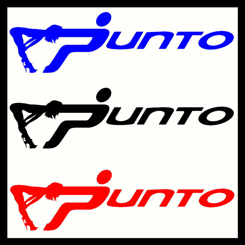 Details about 2 x punto vinyl car stickers decals sexy funny custom bodyglassbumperbadge