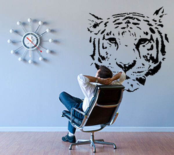 Tiger jungle cat wildlife animal wall decor decal ebay for Animal wall decoration