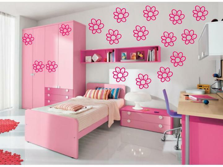 20 daisy flower girls room wall stickers decals nursery ebay