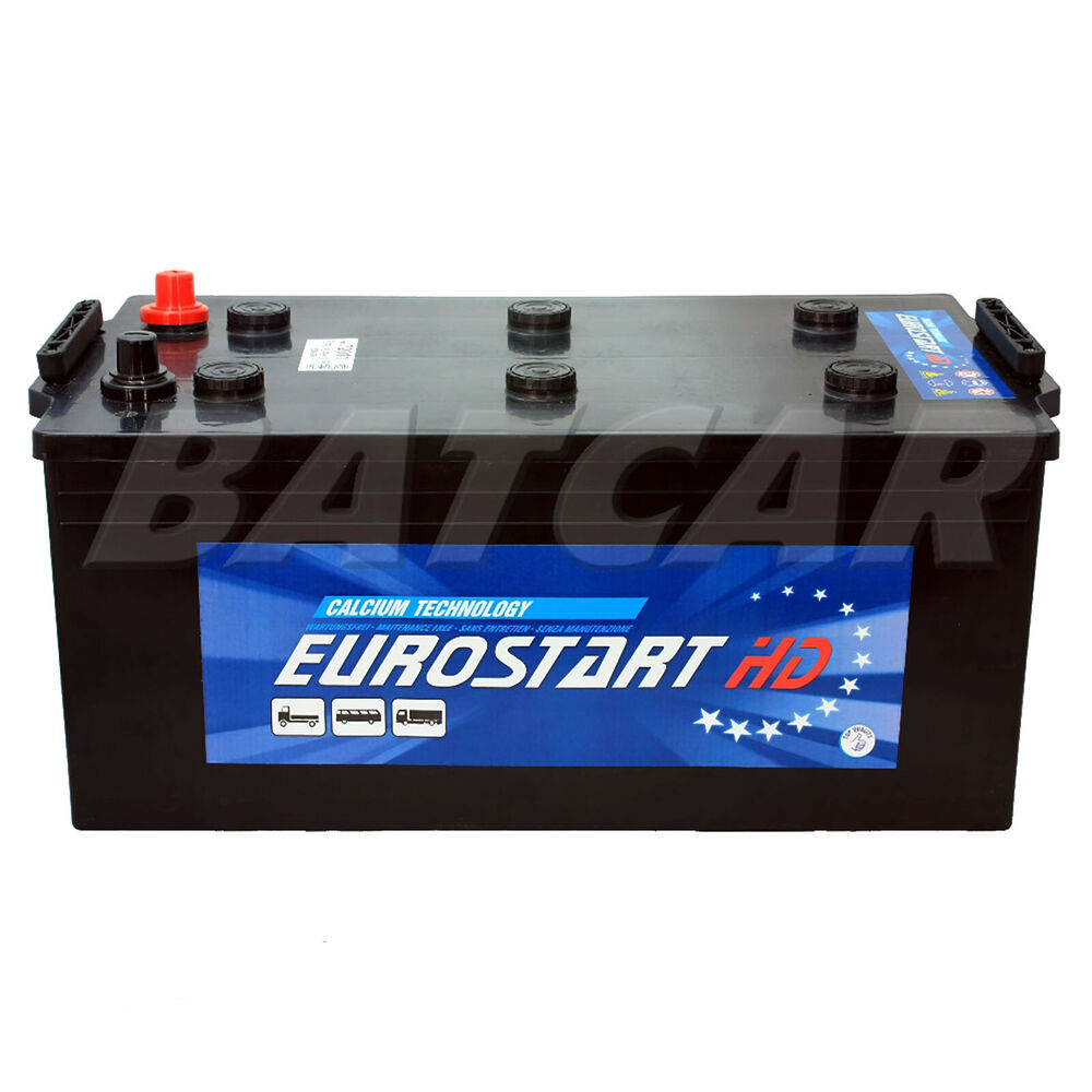 autobatterie lkw batterie eurostart 12v 220ah 1200a en ebay. Black Bedroom Furniture Sets. Home Design Ideas