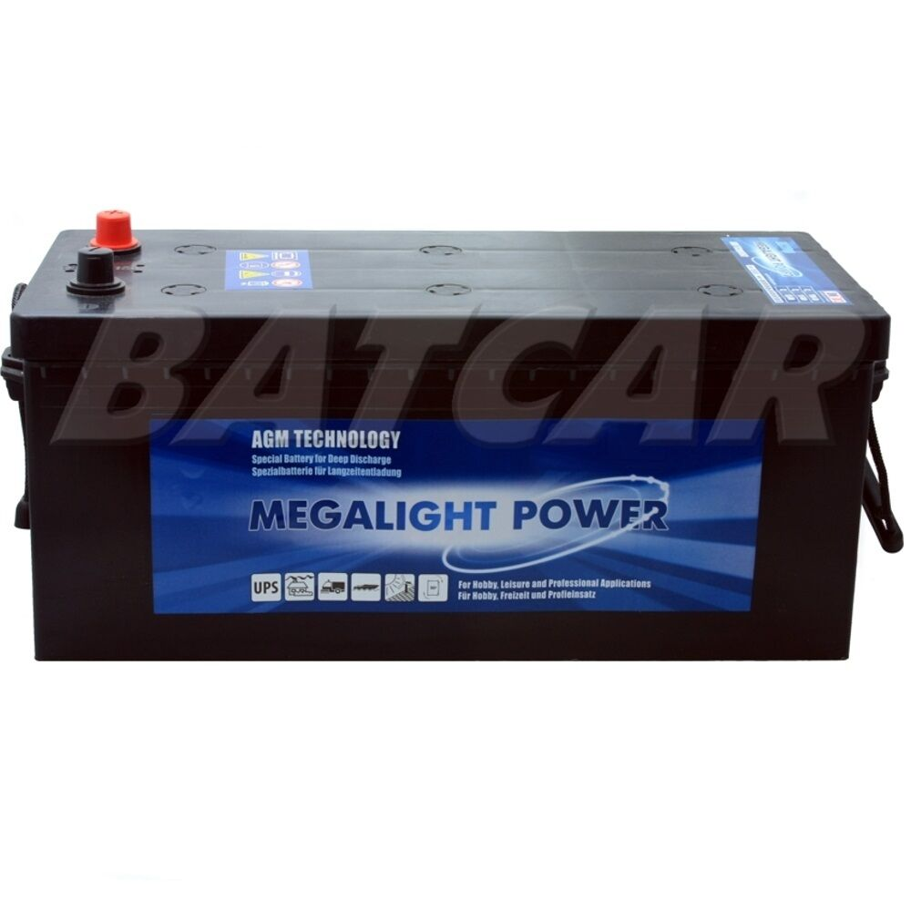 agm batterie megalight power lkw batterie 12v 180ah ebay. Black Bedroom Furniture Sets. Home Design Ideas