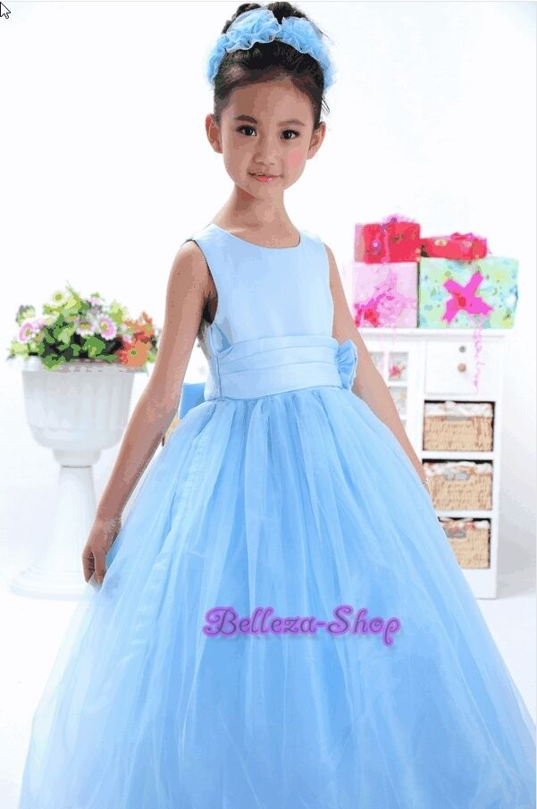 Tulle Formal Dress Gown Wedding Flower Girls Pageant