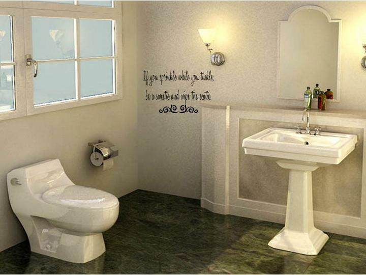 Bathroom Lettering Decor : If you sprinkle bathroom vinyl wall art decal decor words