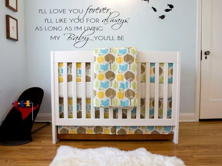 I Ll Love You Forever Vinyl Wall Decal Words Lettering