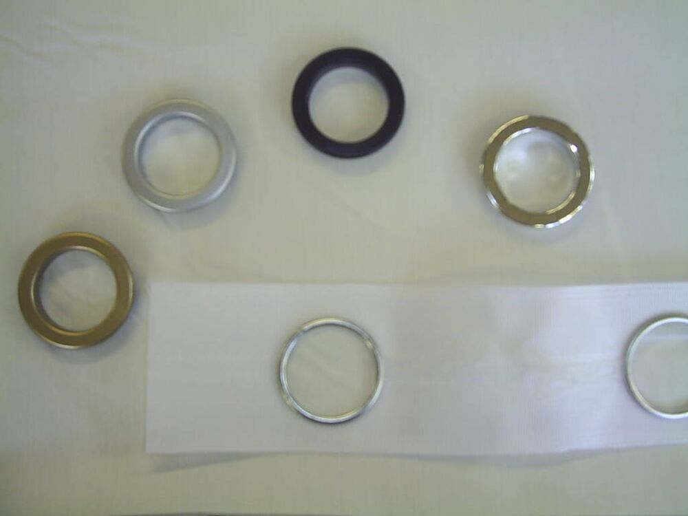 Curtain Eyelets Header Tape With Eyelet Rings Black Chrome