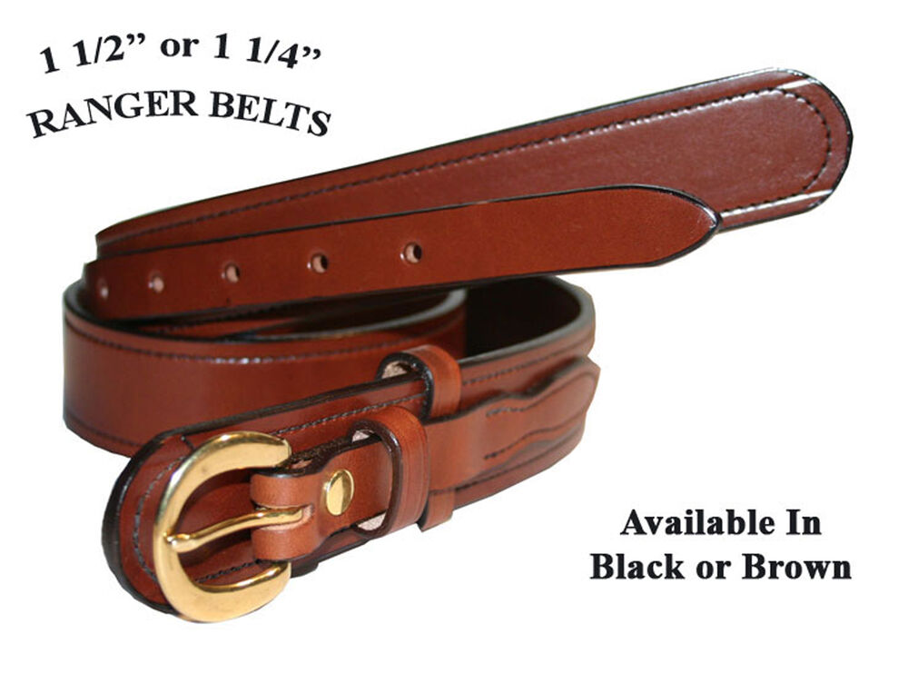 1 1 2 quot wide amish made ranger belts 3 styles ebay