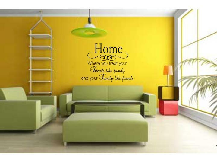 Word Wall Art Vinyl Lettering Home Decor ~ Home friends family wall decal decor vinyl quote