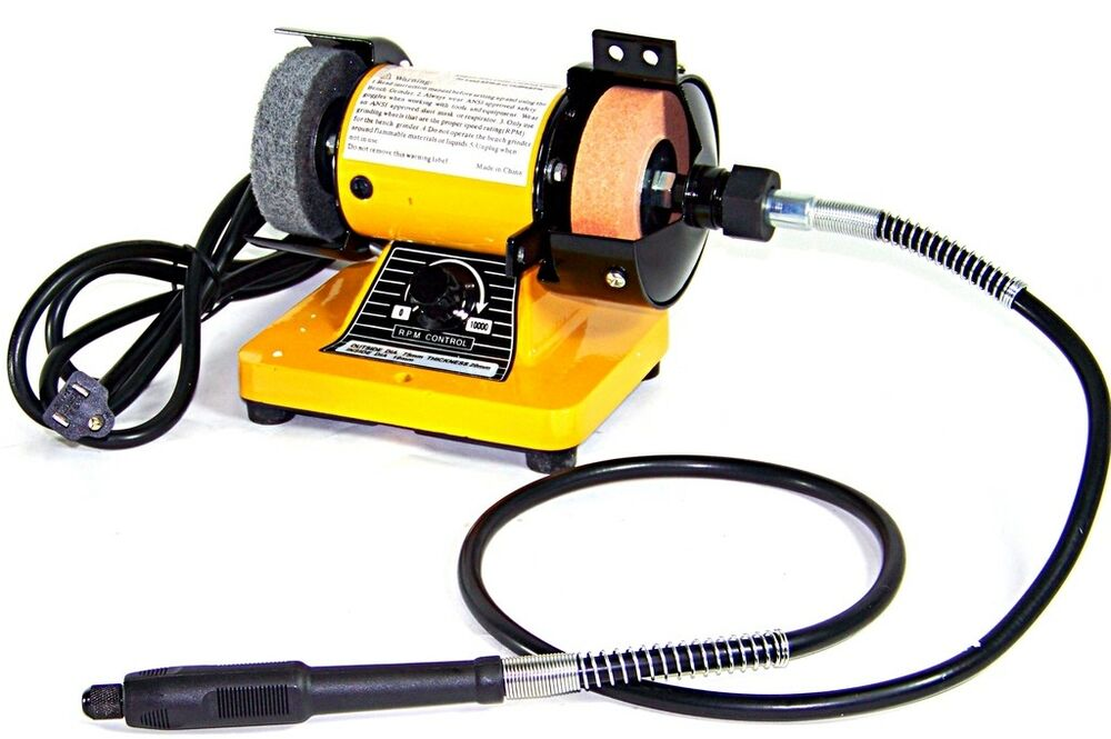 3 mini bench grinder with rotary flexible shaft die carving set ebay