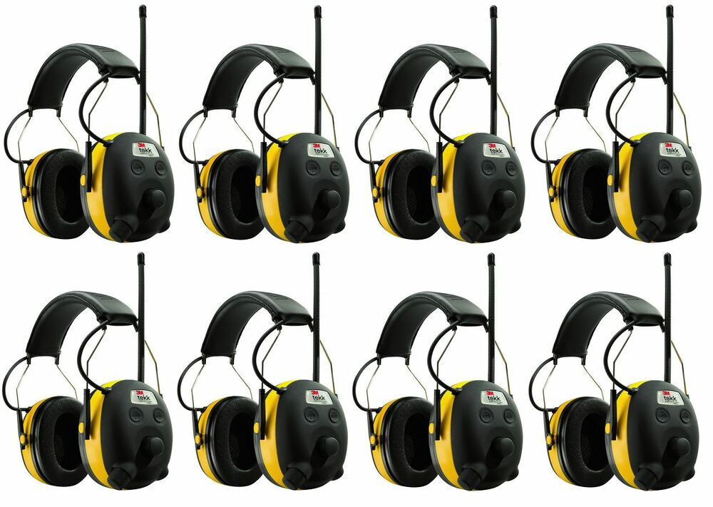 (8) PELTOR WORKTUNES Digital AM FM MP3 Radio HEADPHONES