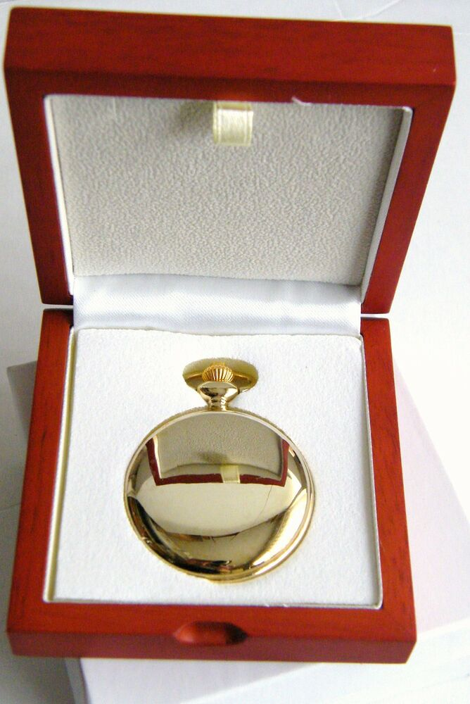 Real wood box for single pocket watch quality display case box ebay for Watches box