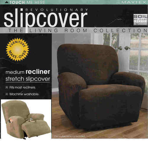 Maytex Recliner Stretch Slipcovers Waffle Collin Brown Tan Gold Green Red Blue Ebay