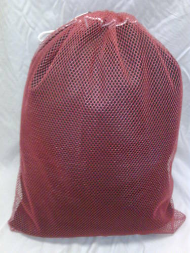 Heavy Duty 30x40 Mesh Laundry Bag Red Made In Usa