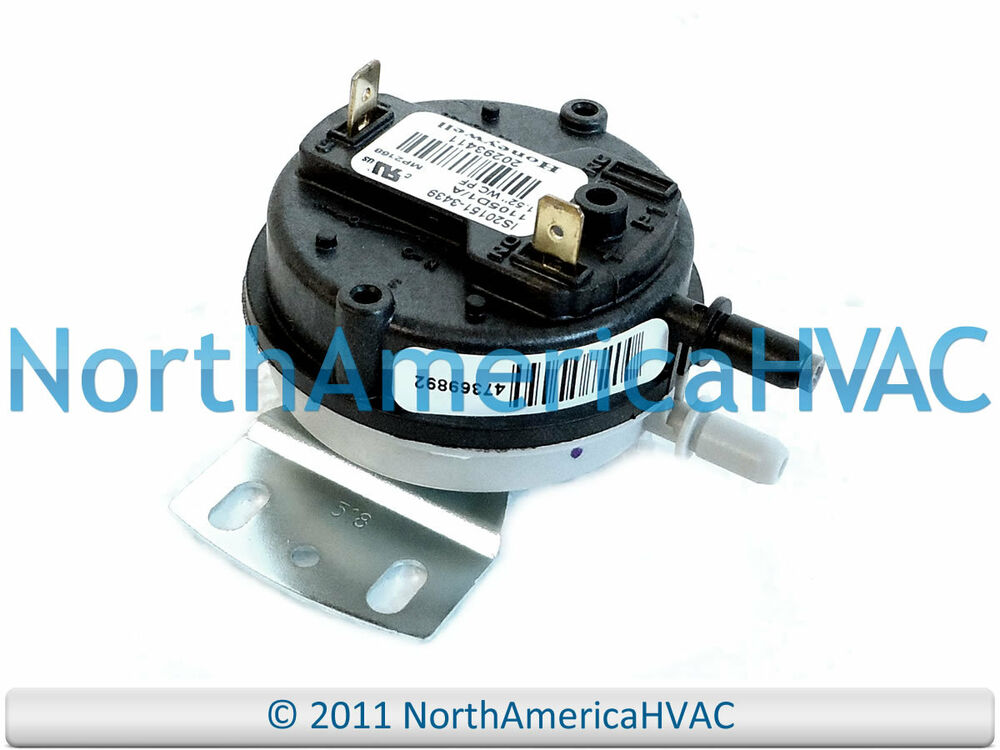 Honeywell Lennox Ducane Furnace Air Pressure Switch IS20151-3439 ...