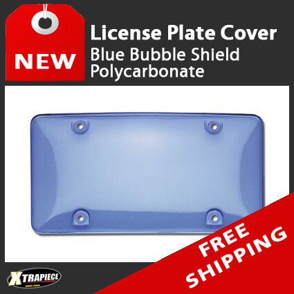 bubble shield license plate cover blue tinted polycarbonate ebay. Black Bedroom Furniture Sets. Home Design Ideas