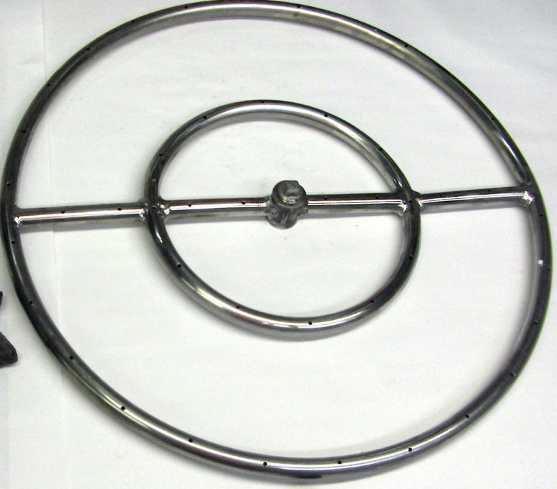 24 quot stainless steel gas pit burner ring ng ebay