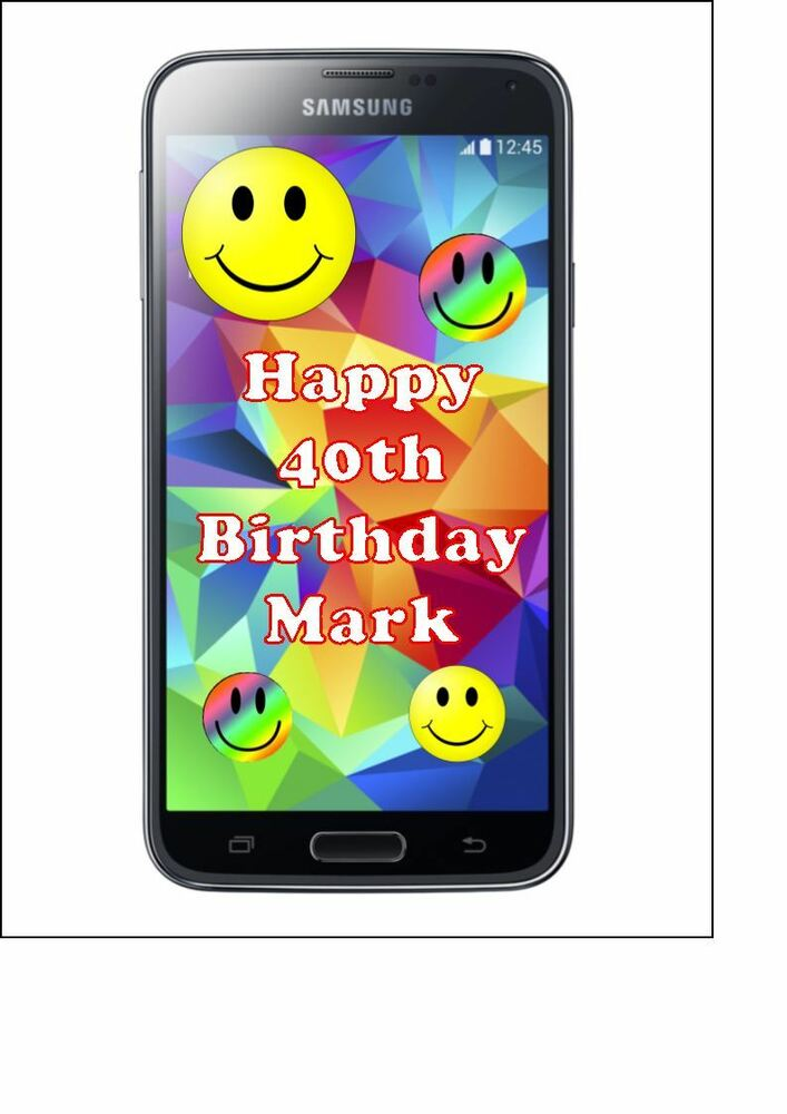 Personalised Samsung Galaxy Mobile Phone Edible Icing
