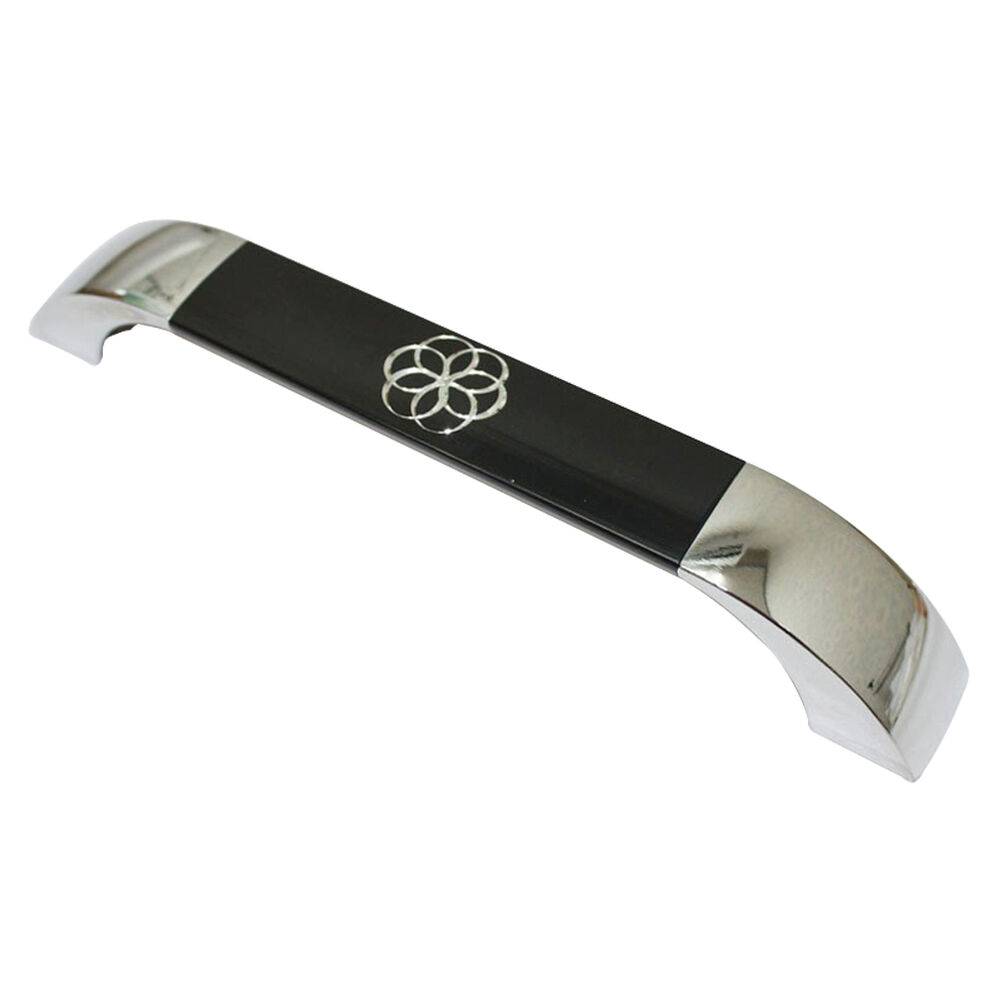 chrome black 160mm furniture door drawer pulls kitchen cabinet handle ab 600 ebay. Black Bedroom Furniture Sets. Home Design Ideas