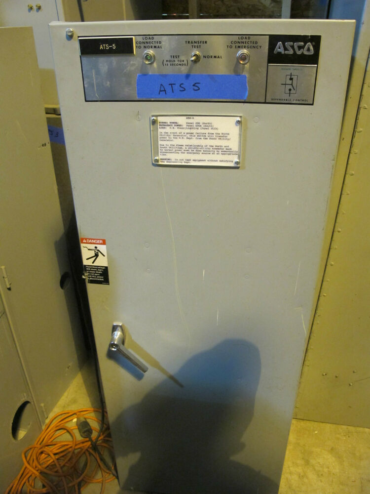 Asco 260 Amp  120  208 Volt Automatic Transfer Switch