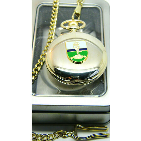 img-THE ROYAL CORPS OF SIGNALS BADGE CRESTED ARMY MILITARY POCKET WATCH CHAIN GIFT
