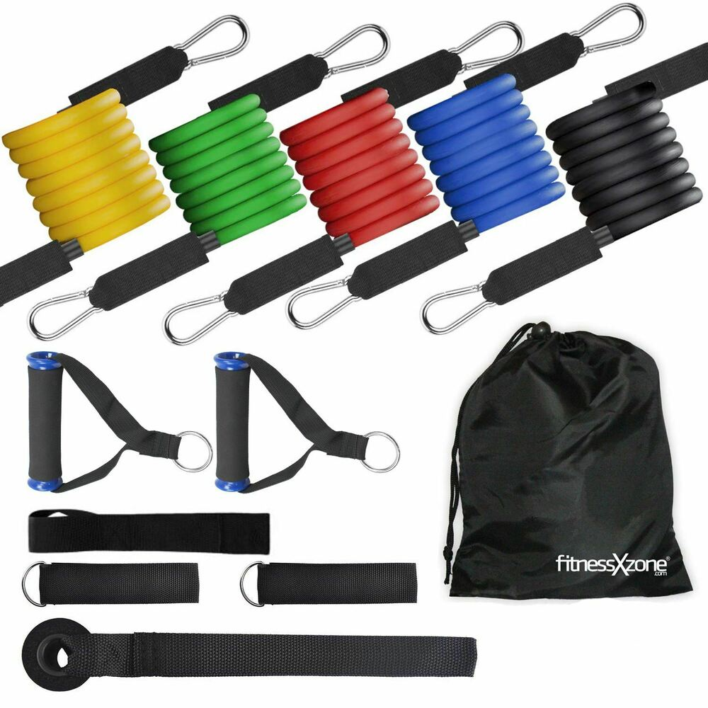 RESISTANCE BANDS Set For Yoga Abs Pilates Fitness Exercise